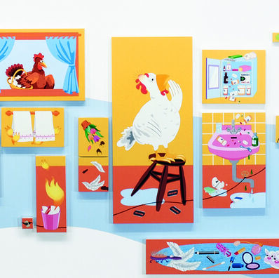 Nancy Chunn, 'Chicken Little and the Culture of Fear: Scene II, The Bathroom  (detail)', 2004-2005