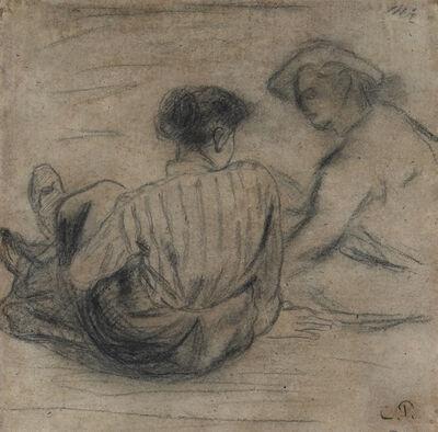 Camille Pissarro, 'Deux Paysans Assis', 19th Century