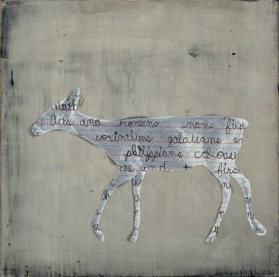 Holly Roberts, 'Deer with Words II', 2015