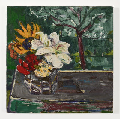 Bernard Chaet, 'Untitled (Flowers on Purple Table with Tree)', ca. 2000