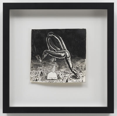 Trenton Doyle Hancock, 'Like A Theif In The Night', 2010