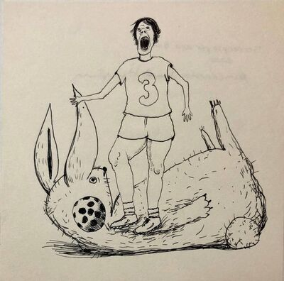 David Humphrey, 'Soccer Player and Bunny', 2000-2009