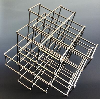 Alois Kronschlaeger, 'Stainless Steel Cube (4 Space, Diagonal Axis)', 2015