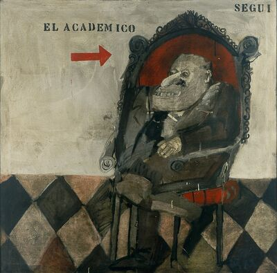 Antonio Seguí, 'El académico [The Academic]', 1963