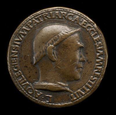 Cristoforo di Geremia, 'Lodovico Scarampi (Mezzarota), died 1465, Patriarch of Aquileia 1444 [obverse]'