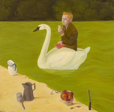 Honoré Sharrer, 'Poet in Swan Boat', 1988