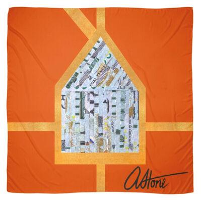 "Aleksandra Stone, 'Limited Edition ""American Household"" Scarf (Stimulus Sandstone)', 2020"