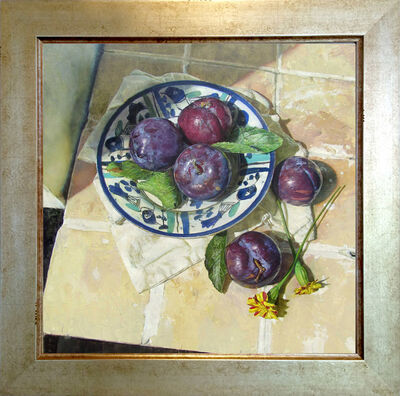 Jeffrey Ripple, 'Plums on a Persian Plate', 2017