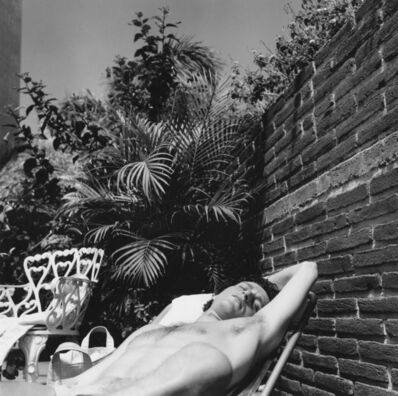 Peter Hujar, 'Robert Levithan in Garden, Mazatlán, Mexico', 1977