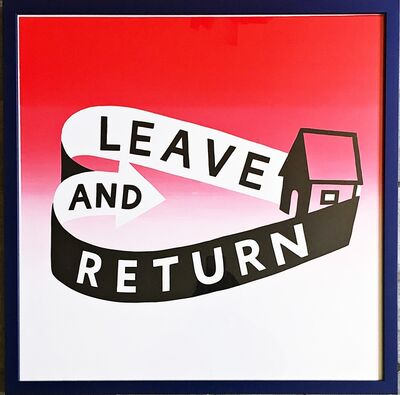Stephen Powers, 'Leave and Return (Mixed Media on Metal)', 2018