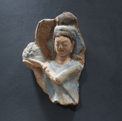 'Celestial Maiden (apsara), holding a lotus blossom', mid-6th century