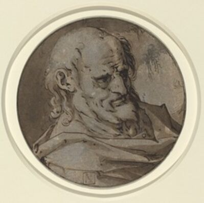 Hendrik Goltzius, 'Head of an Apostle'