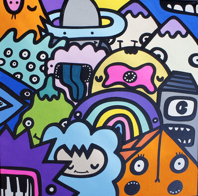 Kev Munday, 'Monster Crowd', 2019