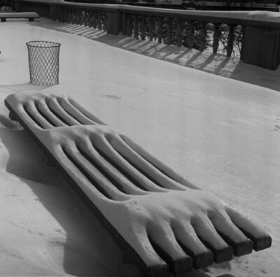 Fred Stein, 'Snow on Bench', 1941