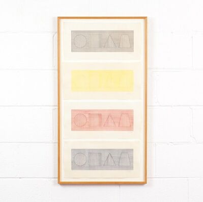 Sol LeWitt, 'Four Part Combinations of Six Geometric Figures in Four Colors', 1980