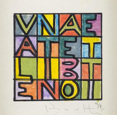 Alighiero Boetti, 'Valentina e Boetti', 1994