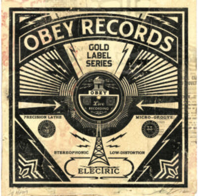 Shepard Fairey, 'Obey Records HPM', 2013