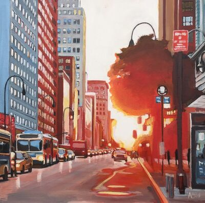 Angela Wakefield, 'New York City Street at Sunset', 2017