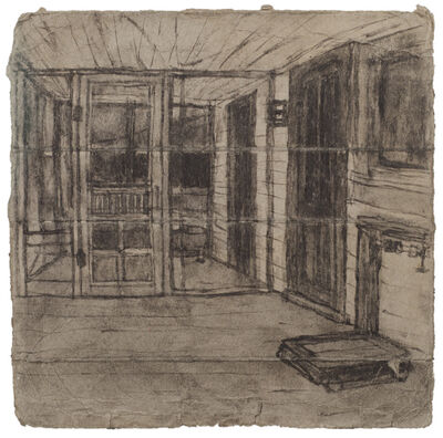 James Castle, 'Untitled ( Porch with scale; verso: landscape)', n.d.