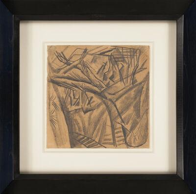Otto Dix, 'Ein S(plitter) graben durch Angres', 1916