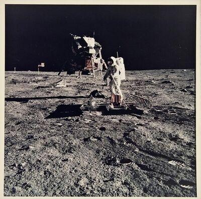 NASA, 'Apollo 11. Buzz Aldrin working near the lunar module.', 1969