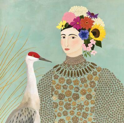 Leslie Barron, 'Woman with Sandhill Crane', 2018