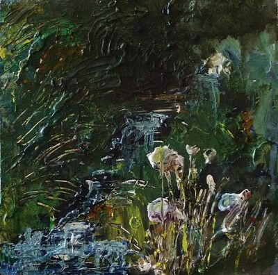Rose Strang, 'Wells of Arthur's Seat, Stream and Flowers', 2019
