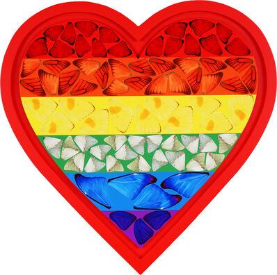 Damien Hirst, 'Rainbow Butterfly Heart', 2020