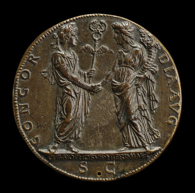 Cristoforo di Geremia, 'Constantine and the Church [reverse]', ca. 1468