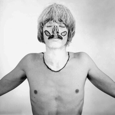 Timm Ulrichs, 'Die weißen Flecken meiner Körper-Landschaft. Kenn-Zeichnung der mir niemals direkt sichtbaren Bereiche meines Körpers', 1968