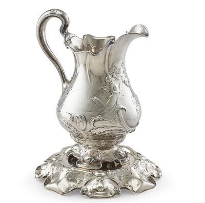 Gorham, 'Gorham Martele Silver Water Pitcher & Stand', ca. 1900