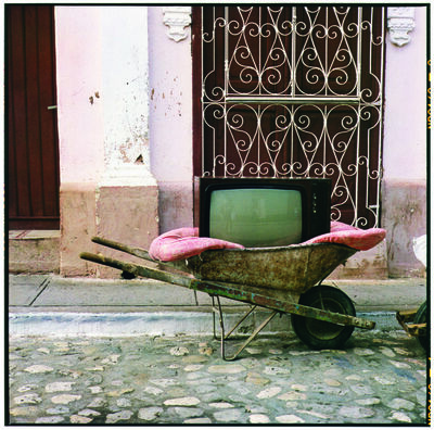 Zoe Leonard, ' TV Wheelbarrow', 2001