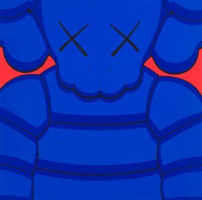KAWS, 'What Party Print (Blue, Signed and Framed)', 2020