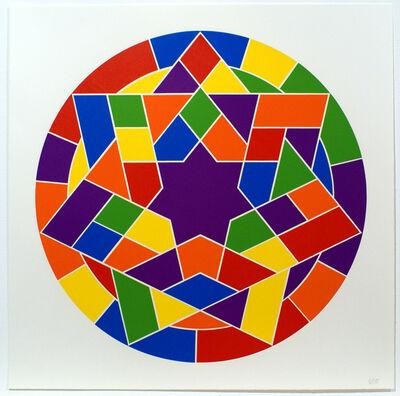 Sol LeWitt, 'Tondo 5 (7 point star)', 2002