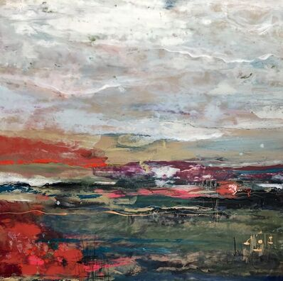 Tipperley Hill, 'Lakeside Mists Original, mixed media, personally signed acrylic paint Signed', 2018