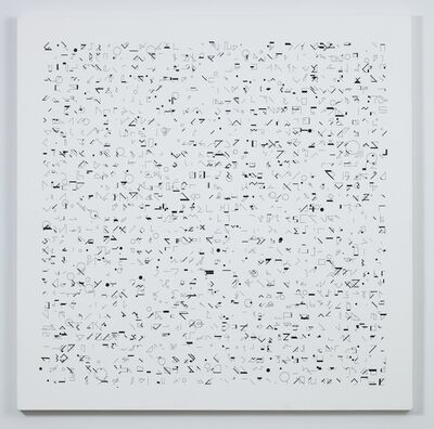 Manfred Mohr, 'P-049/621290', 1970-drawn to canvas in 1990