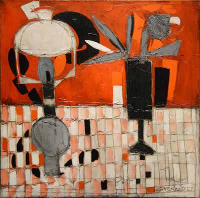 Claude Venard, 'Nature morte: rouge et noir', 1957
