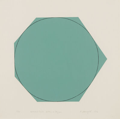 Robert Mangold, 'Distorted Circle Within a Polygon (Green)', 1973