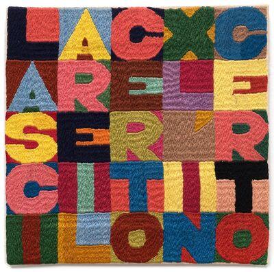 Alighiero Boetti, 'Lasciare il certo per l`incerto,', 1988