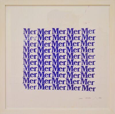 Pierre Buraglio, 'Mer Mer Mer', 1984