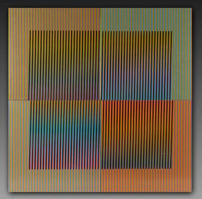 Carlos Cruz-Diez, 'Tableau en 4 pieces', 2010
