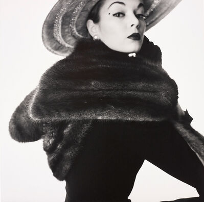 Irving Penn, 'Dior Fur Scarf (Jean Patchett), New York', 1950-1951