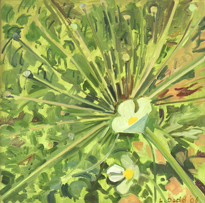 Lois Dodd, 'White Poppy and Allium', 2006