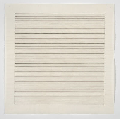 Agnes Martin, 'Untitled', no date (believed to be c. 1970s)