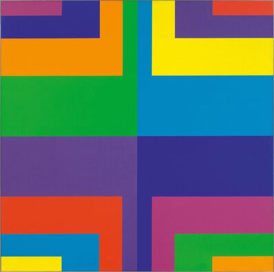 Carlo L. Vivarelli, 'Diagonal zentripetale Gruppen in 8 (extravertiert)', 1968-1969