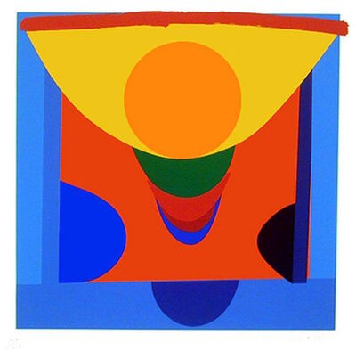 Sir Terry Frost, 'Malaga Blue and Orange', 1999