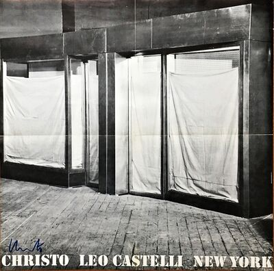 Christo, 'Christo Leo Castelli Gallery New York (Hand Signed) and postmarked to art critic Pierre Restany in Paris', 1966