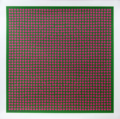 Burton Kramer, 'Pink Hearts 36 of 70', 1974
