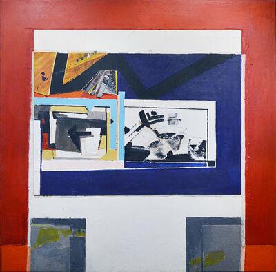Fernando García Ponce, 'Triángulo sobre composición negro y rojo', 1982