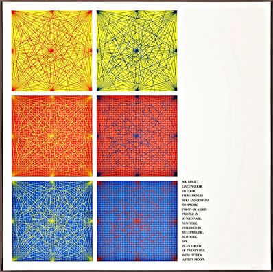 """Sol LeWitt, 'Cover Silkscreen from """"Lines In Color on Color From Corners Sides and Centers to Specific Points on a Grid""""', 1978"""